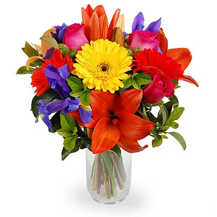 Bright Mixed Flowers Bouquet: Send Flowers to Australia