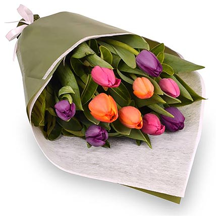 Glossy Tulips Bouquet: Flowers Delivery Australia