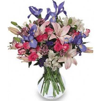 Bunch of Mixed Exotic Flowers In Vase: Flowers To Indonesia