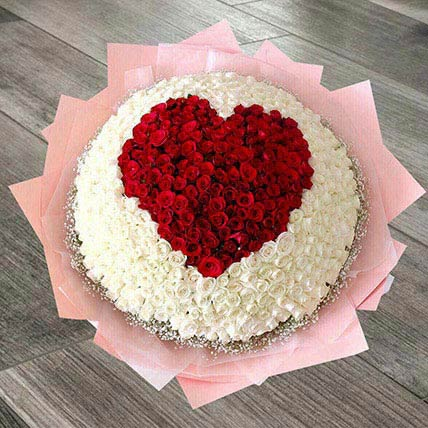 400 Heart Roses Arrangement: Birthday Flower Arrangements