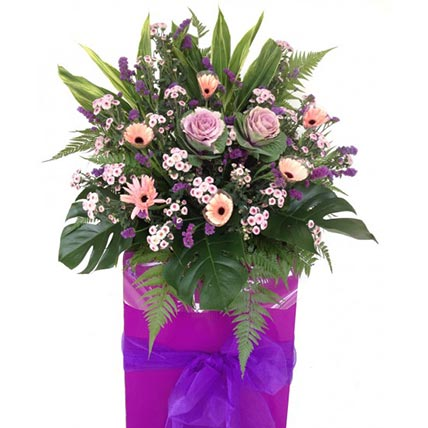 Beauty Of Pinks and Purples: Flowers for Sympathy and Funeral