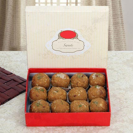 Box of Dry Fruit Besan Laddoo: Singapore Sweets