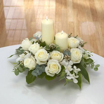 Center Table Arrangement: Orchids Flowers