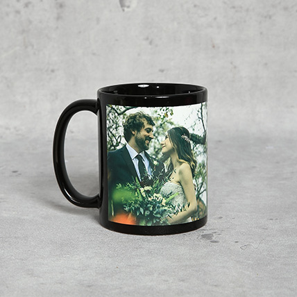 Classic Black Personalised Mug: Customized Gifts