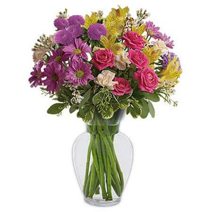 Color It Happy: Mixed Flowers Bouquet