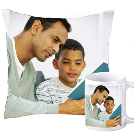 Cuddly personalized cushion and coffee mug: Personalised Birthday Gift Ideas