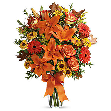 ExquisiteFloral Arrangement: Halloween Gifts