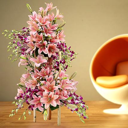 Grand Celebratory Bouquet: Orchids Flowers