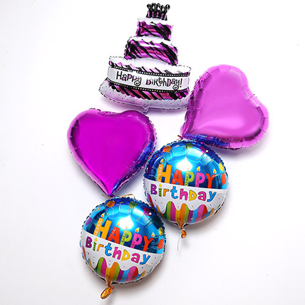 Happy Birthday Balloon Set: Helium Balloons Delivery