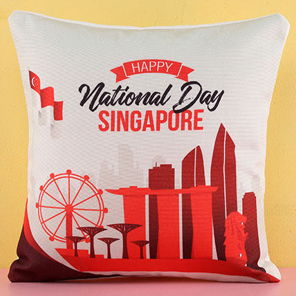 Happy National Day Cushion: Patriotic gifts SG