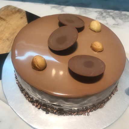 Hazelnut Dark Chocolate Mousse Cake: Wedding Anniversary Cake