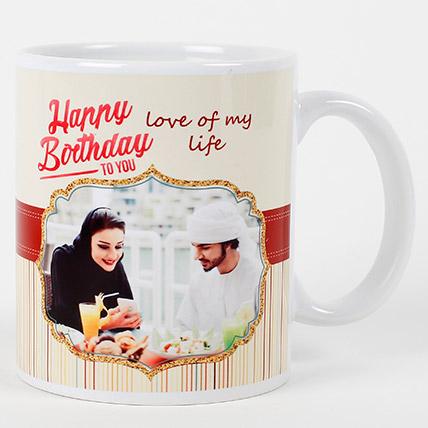 Romantic Birthday Personalized Mug: