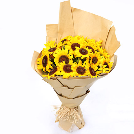 Sunny Hill 20 Sunflowers Bouquet: Sunflowers
