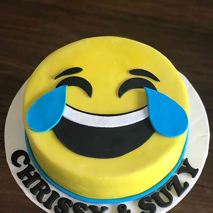 Tears Of Joy Emoji Chocolate Cake: Kids Birthday Cakes
