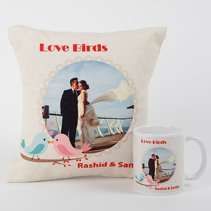 Love Birds Personalized Combo: Unique Gift Ideas