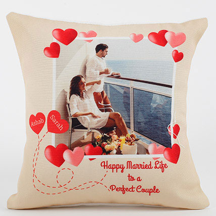 Perfect Love Personalized Cushion: Wedding Anniversary Gift Ideas