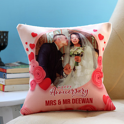 Personalised Anniversary Cushion: Personalised Anniversary Gift Ideas