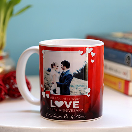 Personalised Anniversary Love Mug: Gifts Under 49 Dollars