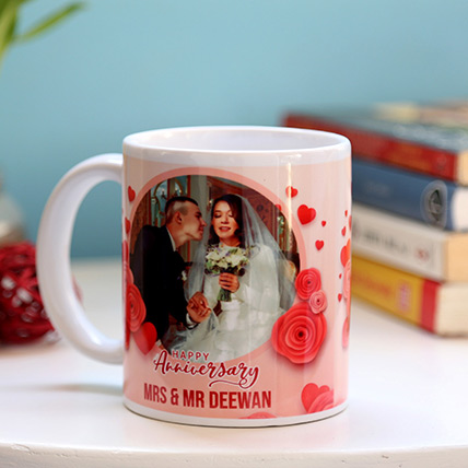 Personalised Anniversary Mug: Wedding Anniversary Gift Ideas
