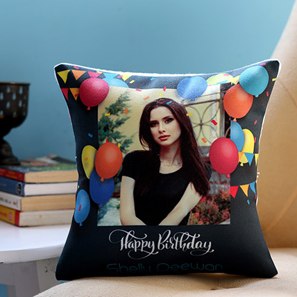 Personalised Birthday Balloons Cushion: Customized Gifts