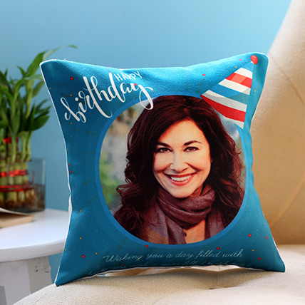 Personalised Birthday Cap Cushion: Customized Cushions