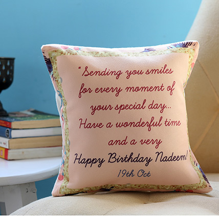 Personalised Birthday Message Cushion: Personalised Cushions