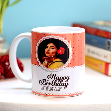 Personalised Joy and Love Birthday Mug: Customized Gifts