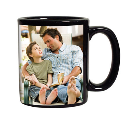 Personalized Black Coffee Mug: