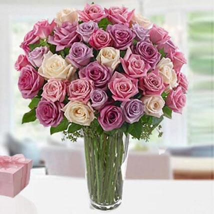 3 Dozen Roses: Purple Floral Bouquets