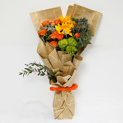 Bright Mixed Flower Bouquet: New Baby Gifts