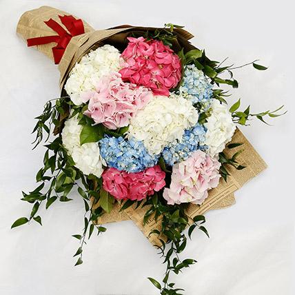 Elegant Hydrangea Bouquet: Hydrangeas Flowers