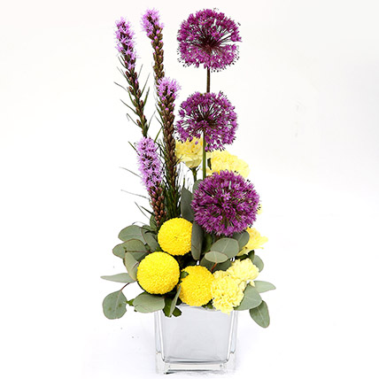 Bright Carnations and Laitris Floral Arrangement: Carnations Bouquets and Arrangements