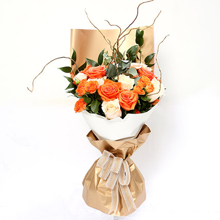 Midsummer Mixed Roses Bouquet: Premium Flowers