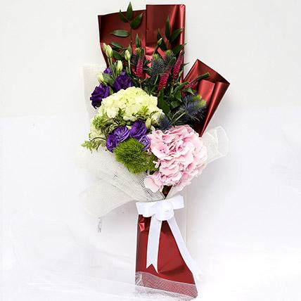Wondrous Eryngium and Hydrangea Bouquet: Hydrangeas