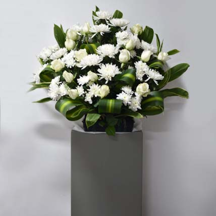Condolence Gerbera Stand: Gifts For Mom Dad