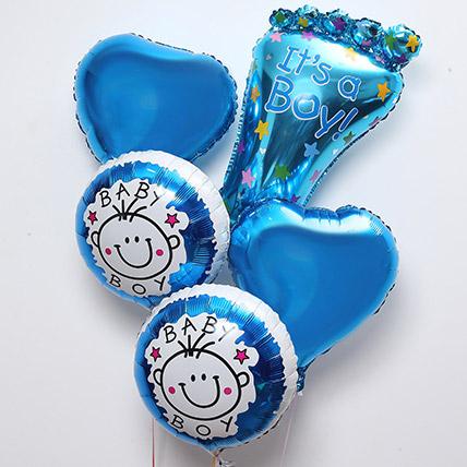 Its Baby Boy Balloon Set: Helium Balloons