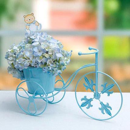 Sophisticated Blue: Blue Flower Bouquet