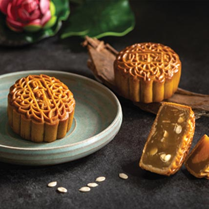 Set Of Egg Yolk Blend and Melon Seed Mooncakes: Mid Autumn Festival Gifts