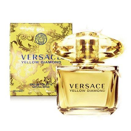 Yellow Diamond By Versace For Women Edt: Birthday Basket Arrangement