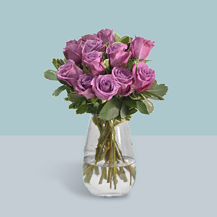 Vase Of Mystic Purple Roses: Bouquet Of Roses
