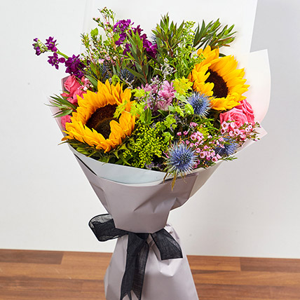 Bouquet Of Vibrant Flowers: Birthday Flower Bouquets