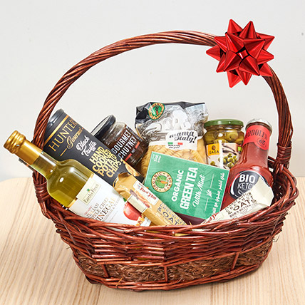 Handle Basket Of Treats: Birthday Gift Hampers