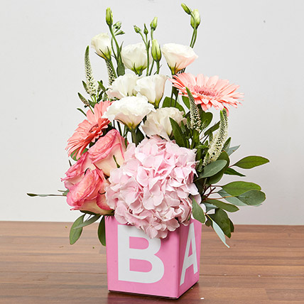Vase Arrangement Of Pastel Flowers: Peonies Flowers