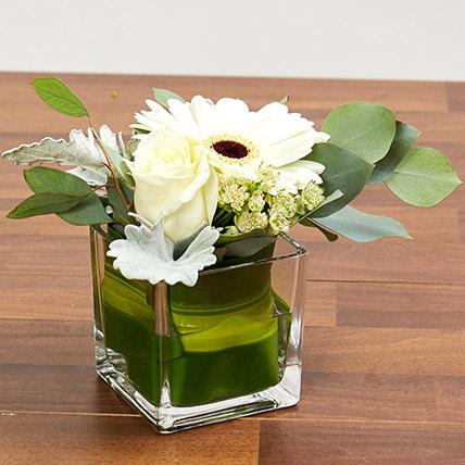 Vase Of White Flowers: White Flowers