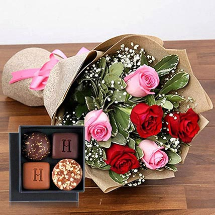 Stolen Kisses Chocolates Combo: Birthday Flower Bouquets