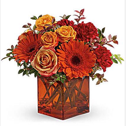 Ornamental Orange Floral Arrangement: Orange Bouquets