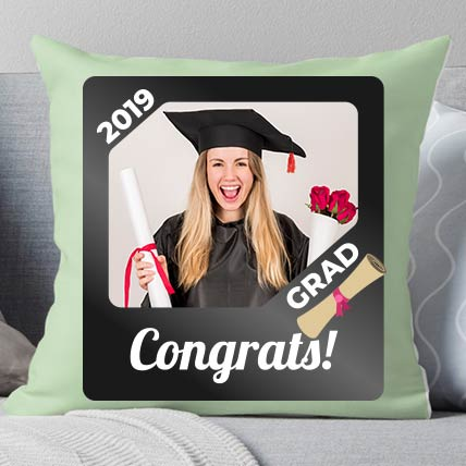 Congrats Grad Personalised Cushion: Graduation Presents Singapore