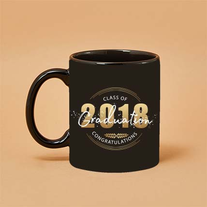 Graduation Black Printed Mug: Custom Mugs