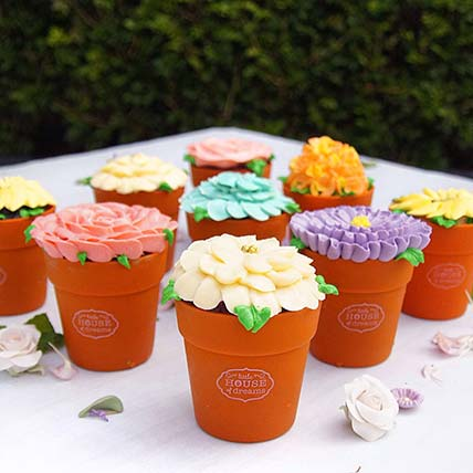 Little Blosson Cup Cake Pots: Cup Cakes
