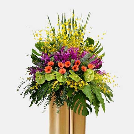 Dancing Orchids Arrangement: Orchid Arrangements